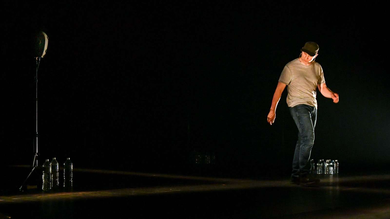 The Encounter. Pictured: Simon McBurney. Credit: Rob Latour for The Wallis.