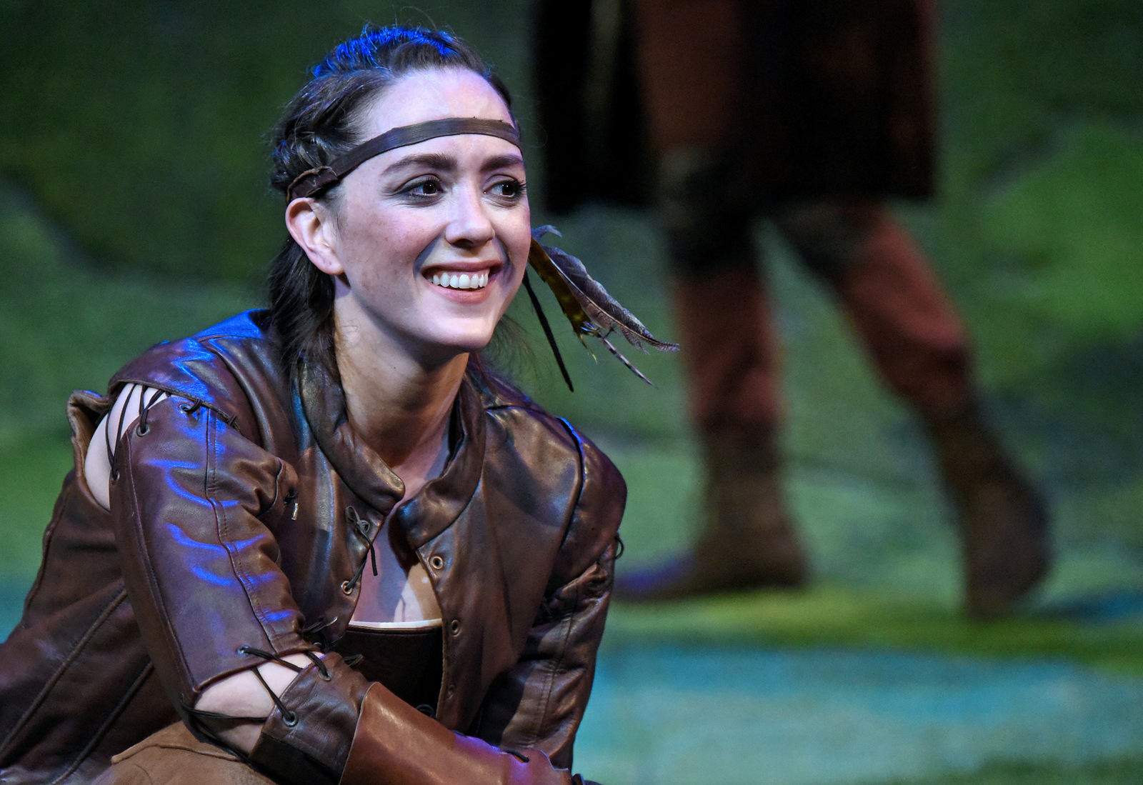 Vesturport and The Wallis' The Heart of Robin Hood. Pictured (l-r): Christina Bennett Lind. Photo credit: Kevin Parry for The Wallis.