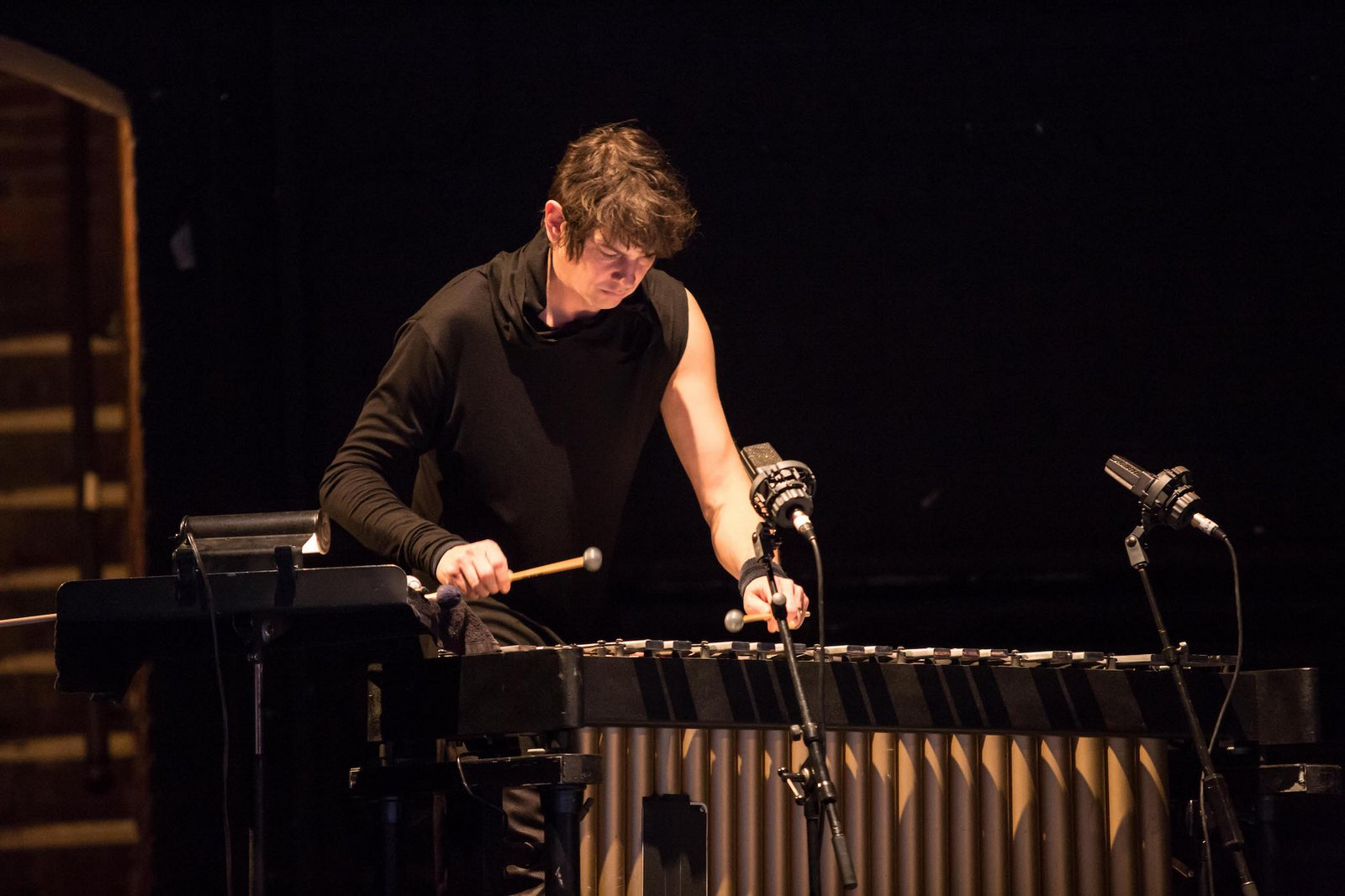 Ate 9 Dance Company: Percussionist Glenn Kotche performs live in calling glenn; PHOTO CREDIT: Courtesy of Ate9