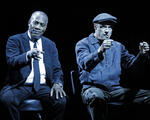 Turn Me Loose at the Wallis Annenberg Center for the Performing Arts. Pictured (l-r): Joe Morton and John Carlin. Photo credit: Lawrence K. Ho.