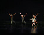 BODYTRAFFIC performing at the Wallis Annenberg Center for the Performing Arts May 31, 2018. Beyond the Edge of the Frame. Choreography: Sidra Bell. (l-r) Guzmán Rosado, Jamal White, Joseph Davis, Tina Finkelman Berkett, Natalie Leibert, Haley Heckethorn. PHOTO CREDIT: Rob Latour.